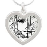 Wood Sprite Silver Heart Necklace