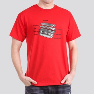 Exploded Harmonica Dark T-Shirt