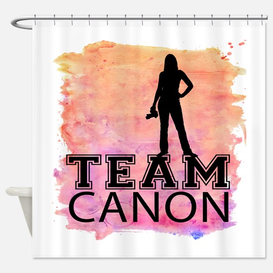 Team Canon Watercolor Shower Curtain