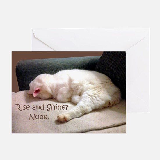 Rise And Shine? Nope. Greeting Card