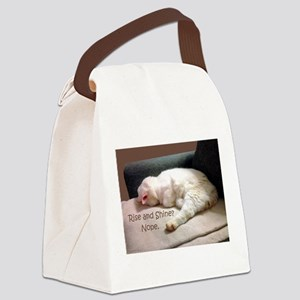 Rise And Shine? Nope. Canvas Lunch Bag
