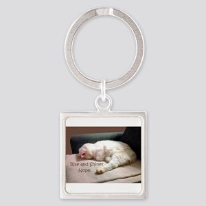Rise And Shine? Nope. Square Keychain