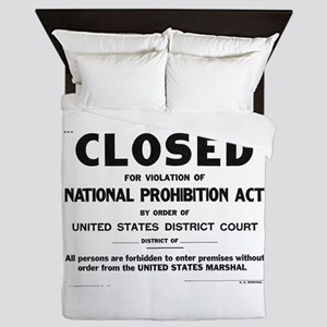 Prohibition Sign Queen Duvet