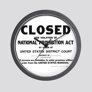 Prohibition Sign Wall Clock