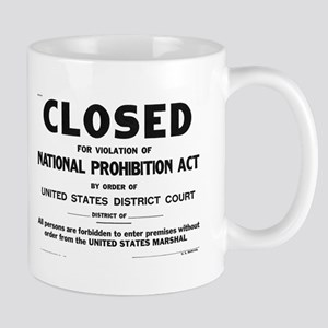 Prohibition Sign Mug
