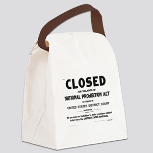 Prohibition Sign Canvas Lunch Bag