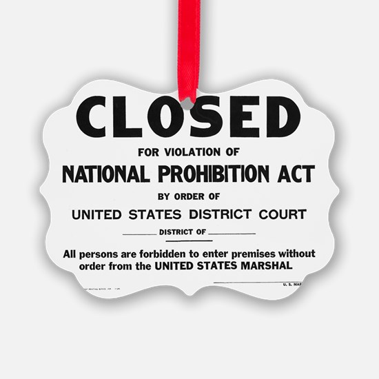 Prohibition Sign Ornament