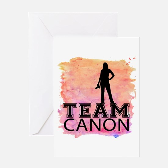 Team Canon Watercolor Greeting Card
