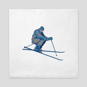 Skier Jump Queen Duvet