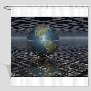 Earth Horizons Shower Curtain