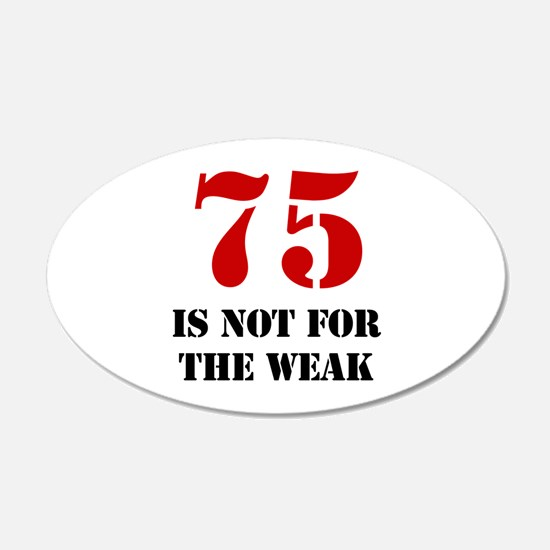 75th Birthday Gag Gift Wall Decal