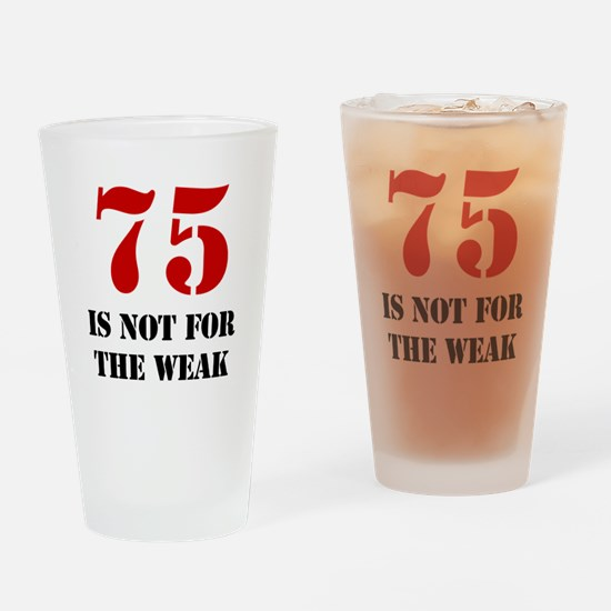 75th Birthday Gag Gift Drinking Glass