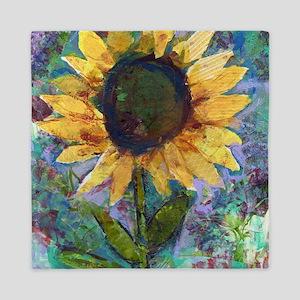 Sunflower Sunday Art Queen Duvet
