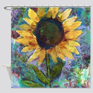 Sunflower Sunday Art Bathroom Shower Curtain