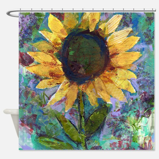 Sunflower Sunday Art Bathroom Shower Curtain