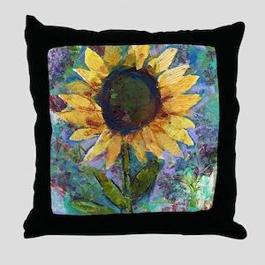 Sunflower Sunday Art Throw Pillow