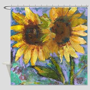 Sunflower Lovers Bathroom Shower Curtain