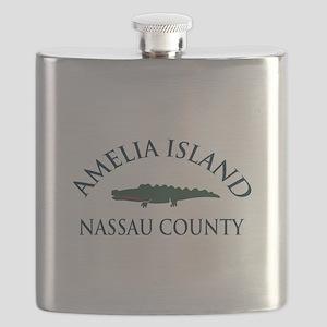 Amelia Island - Alligator Design. Flask