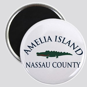 Amelia Island - Alligator Design. Magnet
