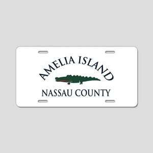 Amelia Island - Alligator Design. Aluminum License