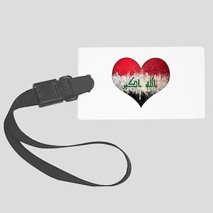 Iraqi heart Large Luggage Tag