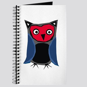 red & blue owl Journal