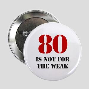"80th Birthday Gag Gift 2.25"" Button"