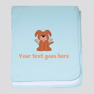 Personalized Angel Puppy Dog baby blanket