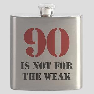 90th Birthday Gag Gift Flask