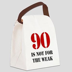 90th Birthday Gag Gift Canvas Lunch Bag
