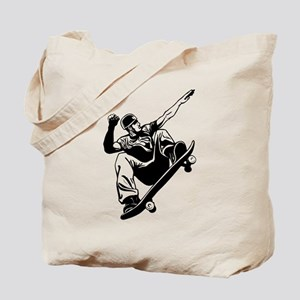 Skateboarder Jump Tote Bag