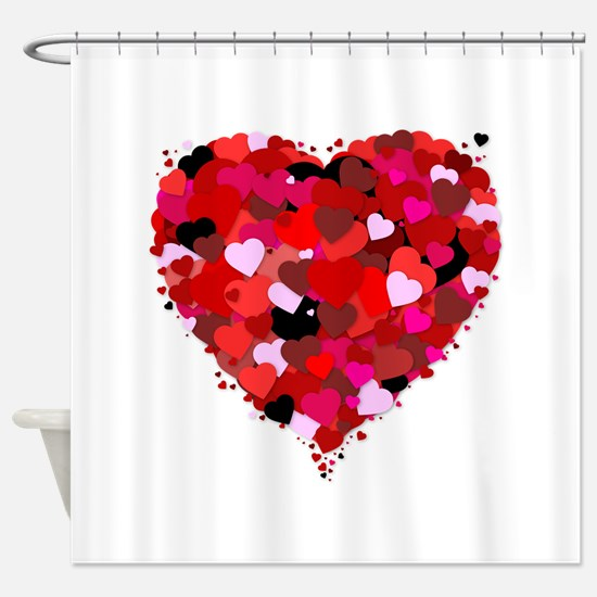 Bunch Of Hearts Shower Curtain