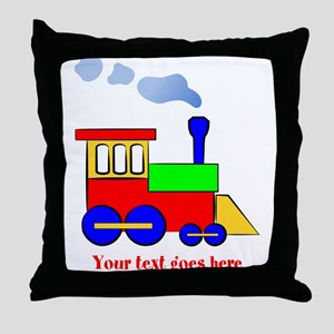 Personalize Choo Choo Train Engine Throw Pillow