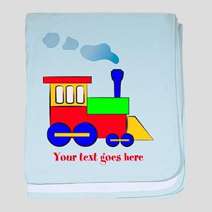 Personalize Choo Choo Train Engine baby blanket