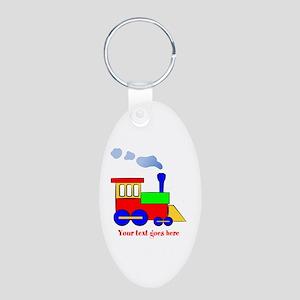 Personalize Choo Choo Train Engine Aluminum Oval K