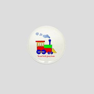 Personalize Choo Choo Train Engine Mini Button