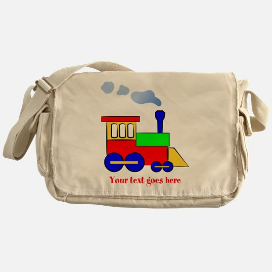 Personalize Choo Choo Train Engine Messenger Bag