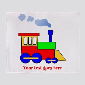 Personalize Choo Choo Train Engine Throw Blanket