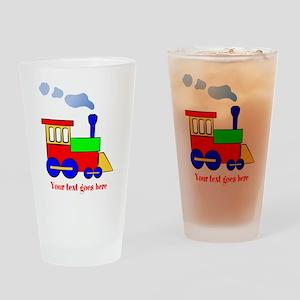 Personalize Choo Choo Train Engine Drinking Glass