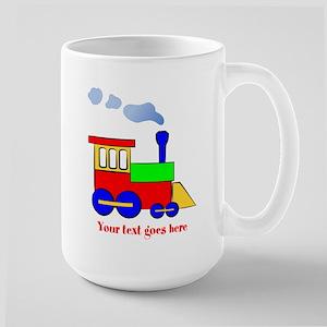 Personalize Choo Choo Train Engine Large Mug
