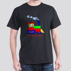 Personalize Choo Choo Train Engine Dark T-Shirt