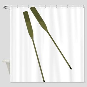 Rowing Oars Shower Curtain