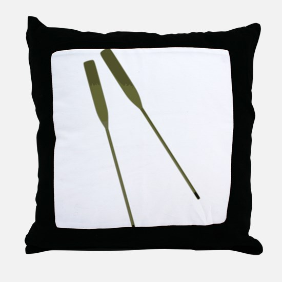 Rowing Oars Throw Pillow