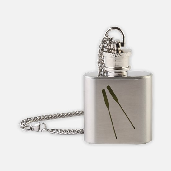 Rowing Oars Flask Necklace