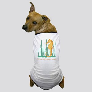 Personalized Orange Seahorse Dog T-Shirt