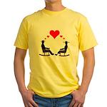 Hearts Rock Yellow T-Shirt
