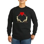 Hearts Rock Long Sleeve Dark T-Shirt