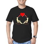 Hearts Rock Men's Fitted T-Shirt (dark)