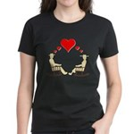 Hearts Rock Women's Dark T-Shirt