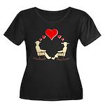 Hearts Rock Women's Plus Size Scoop Neck Dark T-Sh